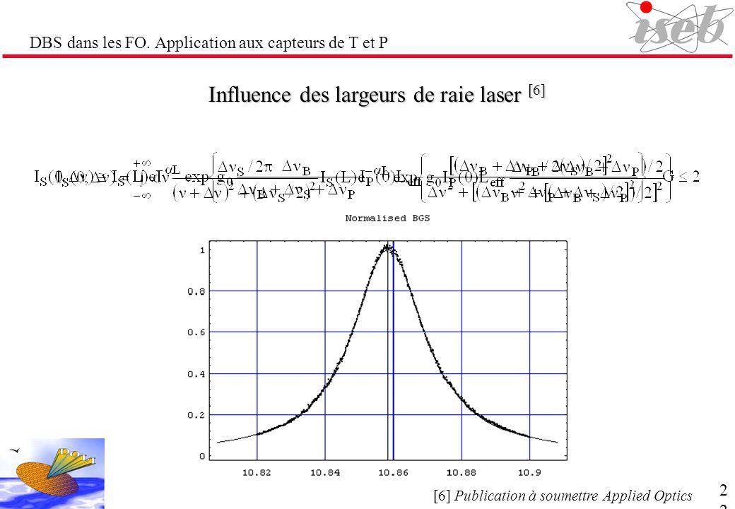 Influence des largeurs de raie laser [6]
